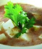 Súp đậu đỏ nấu đậu hủ