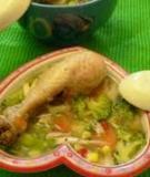 Súp gà và các loại rau