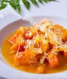 Súp mì Ý nấu bí đỏ cà rốt