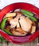 Súp miso nấu thịt gà