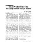 """Báo cáo """" Nghĩa vụ cấp dưỡng trong hệ thống pháp luật Việt Nam trước Cách mạng tháng Tám"""""""