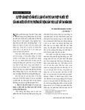 """Báo cáo """" Sự tiếp cận một số vấn đề lý luận về vai trò can thiệp và điều tiết của nhà nước đối với thị trường bất động sản theo Luật đất đai năm 2003"""""""