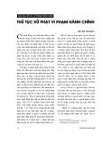 """Báo cáo """"  Những quy định mới về hình thức phạt tiền trong Pháp lệnh xử lí vi phạm hành chính năm 2002"""""""