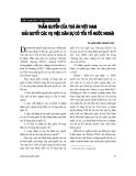 """Báo cáo """" Thẩm quyền của toà án Việt Nam giải quyết các vụ việc dân sự có yếu tố nước ngoài"""""""