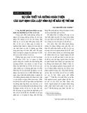 """Báo cáo """"Sự cần thiết và hướng hoàn thiện các quy định của luật hình sự về bảo vệ trẻ em """""""