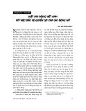 """Báo cáo """" Luật lao động Việt Nam với việc bảo vệ quyền lợi của lao động nữ"""""""