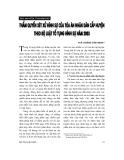 """Báo cáo """" Thẩm quyền xét xử hình sự của toà án nhân dân cấp huyện theo BLTTHS năm 2003"""""""