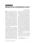 """Báo cáo """" Hiến pháp Việt Nam và quyền bình đẳng của phụ nữ"""""""
