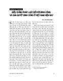 """Báo cáo """"Điều chỉnh pháp luật đối với đình công và giải quyết đình công ở Việt Nam hiện nay """""""