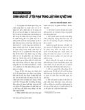 """Báo cáo """"Chính sách xử lý tội phạm trong Luật hình sự Việt Nam """""""
