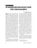 """Báo cáo """" Đấu tranh phòng chống tội mua bán phụ nữ và trẻ em ở nước ta trong giai đoạn hiện nay"""""""