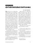 """Báo cáo """"Một số ý kiến về vấn đề hội động xét xử khởi tố vụ án hình sự """""""