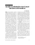 """Báo cáo """"Bảo vệ quyền phụ nữ và trẻ em trong pháp luật quốc tế và pháp luật Việt Nam """""""
