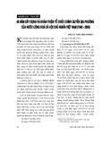 """Báo cáo """" Sáu mươi năm năm xây dựng và hoàn thiện tổ chức chính quyền địa phương của nước Cộng hoà xã hội chủ nghĩa Việt Nam (1945 - 2005)"""""""