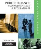 PUBLIC FINANCE MANAGEMENT ACT NO. 1 OF 1999