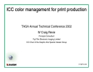 ICC color management for print production: TAGA Annual Technical Conference 2002