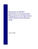 Integration of Weather Information in Transportation Management Center Operations: Self-Evaluation and Planning Guide