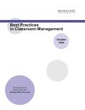 Best Practices in Classroom Management