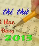 Đề thi thử Đại học khối A môn Toán năm 2013 - Đề 7
