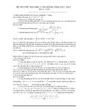 Đề thi thử Đại học khối A môn Toán năm 2013 - Đề 23