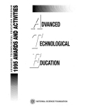 advanced technological education 1995 awards and activities