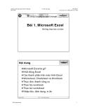 Microsoft Excel những thao tác cơ bản