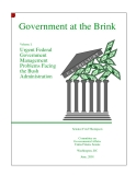 Urgent Federal Government Management Problems Facing the Bush Administration
