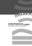 Strategic Management and Universities' Institutional Development
