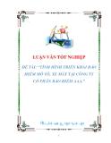 luận văn: TÌNH HÌNH TRIỂN KHAI BẢO HIỂM MÔ TÔ, XE MÁY TẠI CÔNG TY CỔ PHẦN BẢO HIỂM AAA