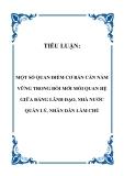 TIỂU LUẬN:  MỘT SỐ QUAN ĐIỂM CƠ BẢN CẦN NẮM VỮNG TRONG ĐỔI MỚI MỐI QUAN HỆ GIỮA ĐẢNG LÃNH ĐẠO, NHÀ NƯỚC QUẢN LÝ, NHÂN DÂN LÀM CHỦ