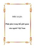 TIỂU LUẬN:  Phật giáo trong thế giới quan của người Việt Nam