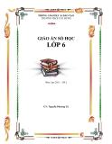 Giáo án số học 6 - Trường THCS Cát Hưng