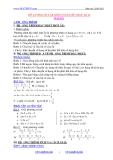 Đề cương ôn tập môn  toán lớp 8 học kỳ II