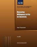 measuring willingness to pay for electricity