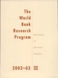 the world bank research program 2002 2003