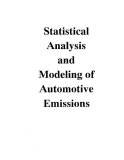 statistical anaysis and modeling of automotive emissions