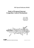 study of proposed internet congestion control mechanisms