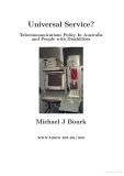 universal service telecommunications policy in australia