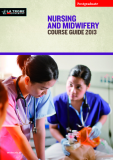 NURSING AND MIDWIFERY COURSE GUIDE 2013