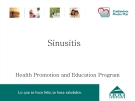 Sinusitis Health Promotion and Education Program