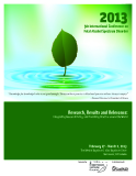Research, Results and Relevance: Integrating Research Policy, and Promising Practice around the World