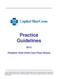 Practice Guidelines 2013 Pediatric Well Child Care Flow Sheets
