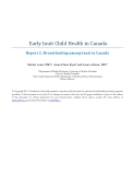 Early Inuit Child Health in Canada