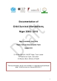 Documentation of Child Survival Interventions, Niger 2000 - 2010
