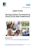 Health Profile Haringey Clinical Commissioning Group (CCG) West Collaborative