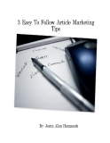 3 easy to follow article marketing tips
