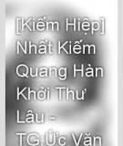 Nhất Kiếm Quang Hàn Khởi Thư Lâu