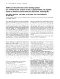 Báo cáo Y học:  NMR-based determination of the binding epitope and conformational analysis of MUC-1 glycopeptides and peptides bound to the breast cancer-selective monoclonal antibody SM3