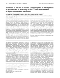Báo cáo Y học:  Elucidation of the role of fructose 2,6-bisphosphate in the regulation of glucose fluxes in mice usingin vivo 13 C NMR measurements of hepatic carbohydrate metabolism