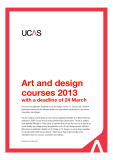 Art and design courses 2013 with a deadline of 24 March